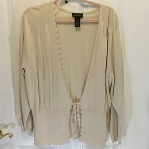 Pretty Cream Cardigan by Lane Bryant 26/28